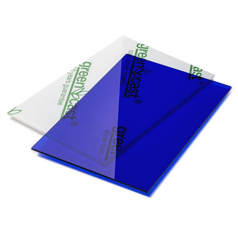 blauw plexiglas